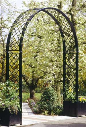 Portofino Garden Arch   Crafted In Germany   Offered With Or Without  Planters. Metal ArborGarden ...
