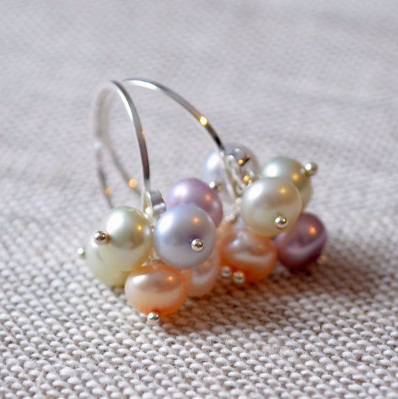 NEW Pearl Cluster Earrings Pastel Colors Easter by livjewellery https://www.etsy.com/listing/215977417/new-pearl-cluster-earrings-pastel-colors?ref=shop_home_active_11&ga_search_query=new