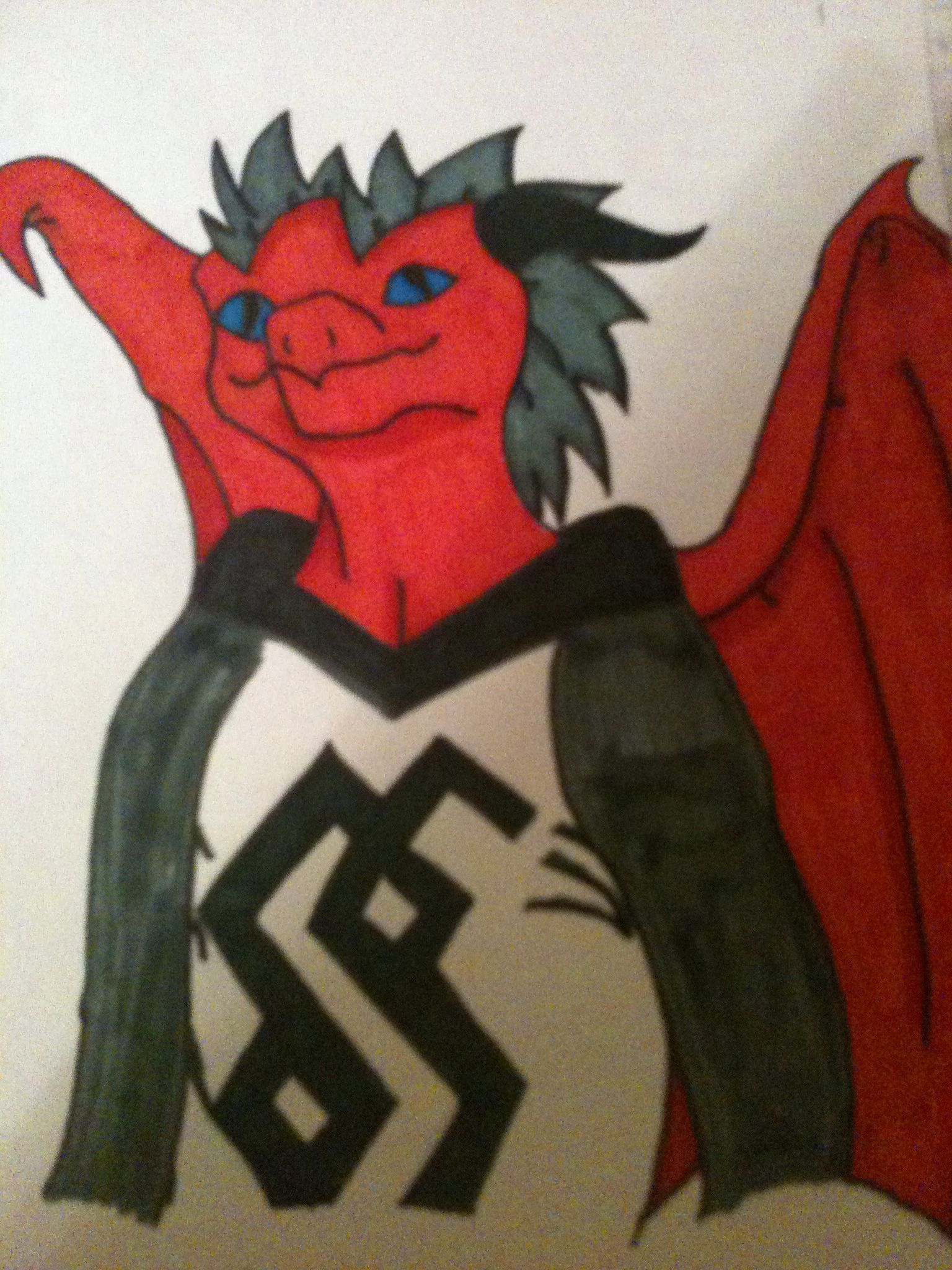 ((RP?)) This is Riech (pronounced Rike). He is a 16 year old dragon mutant. He is a typical rebel type personality.