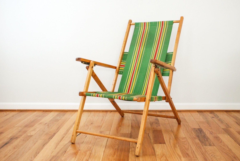 Vintage Wood Deck Chairs