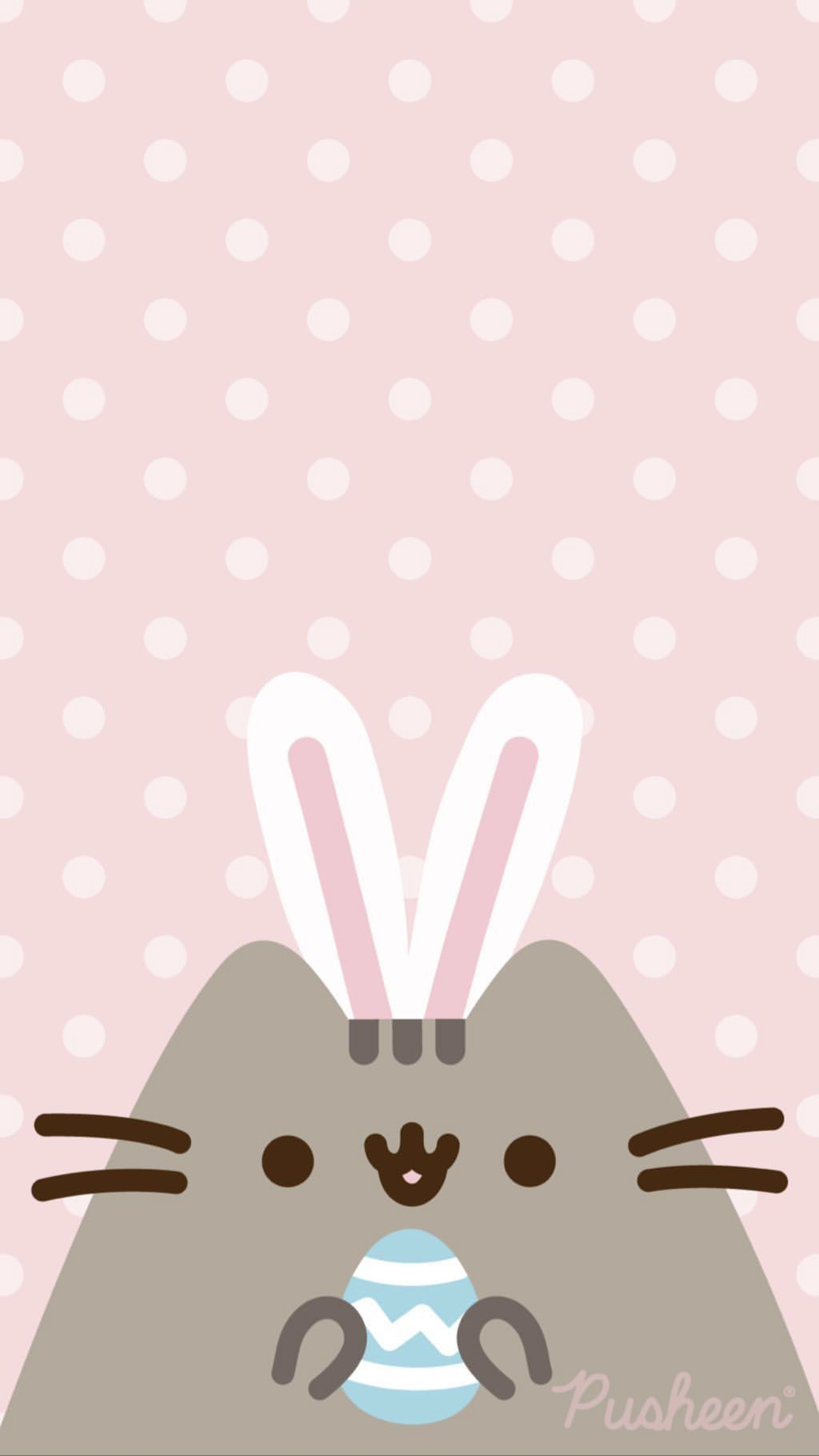 Pusheen The Cat Floral Pastels Spring Iphone Wallpaper Easter