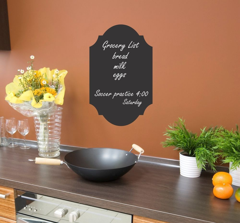 Chalkboard wall decal removable sticker chalk board kitchen decor blackboard