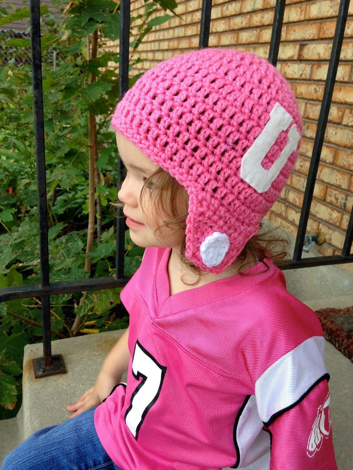 five little monsters: Crocheted Football Helmet Hats- Free Pattern ...