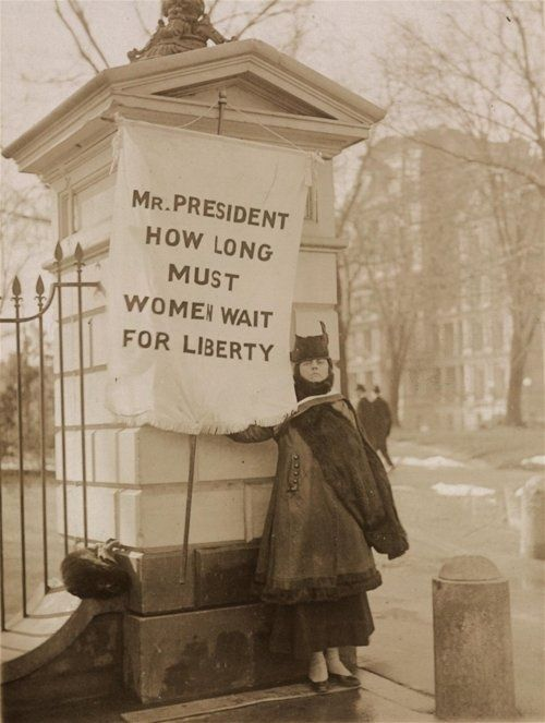 Women picketed the White House in 1917 to try to get President Wilson to support…