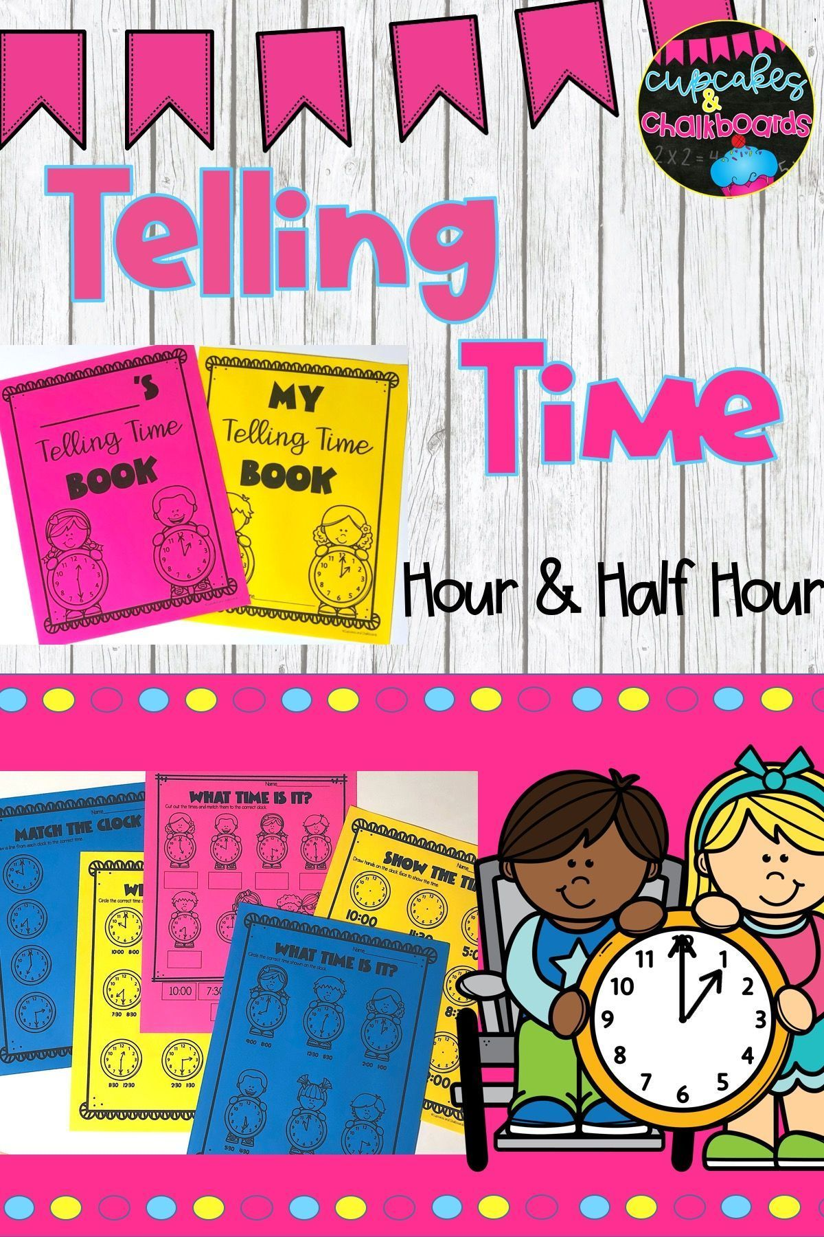 Telling Time To The Hour And Half Hour Worksheets In