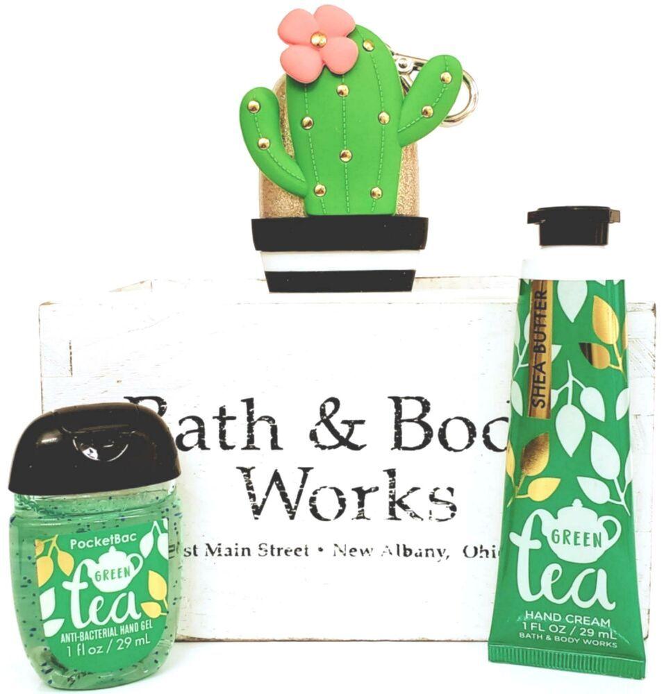 Bath And Body Works Green Tea Hand Cream Pocketbac Cactus Case