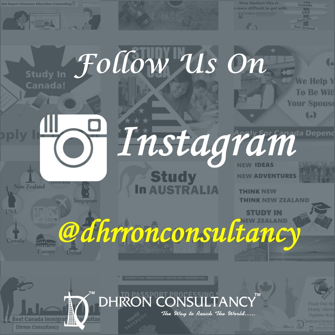 Follow us on Instagram and get updates on StudyAbroad!