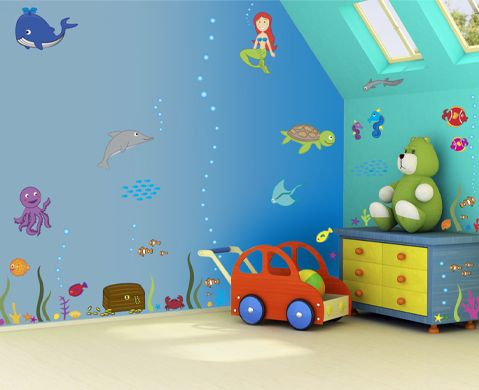1000 images about kids room on pinterest wall stickers kids rooms and motorbikes - Childrens Bedroom Wall Ideas