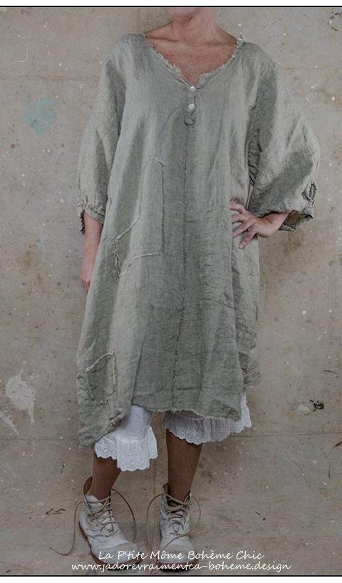 Robe Chemise Nell En Lin Ravissante Facile Vetements Romantiques Robe Chemise Vetement En Lin