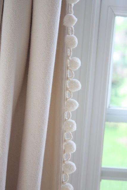 Pom Pom Fringe Curtains Canvas Curtains Curtains Living