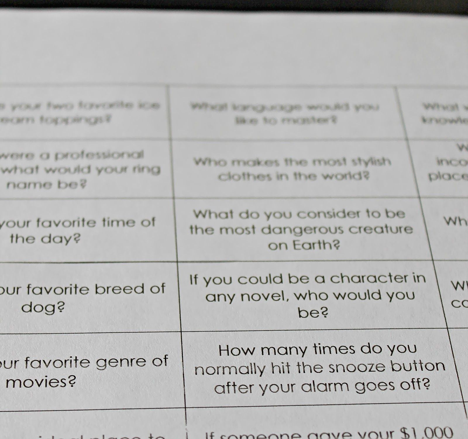 Freshly Completed Loaded Questions A Free Printable Game
