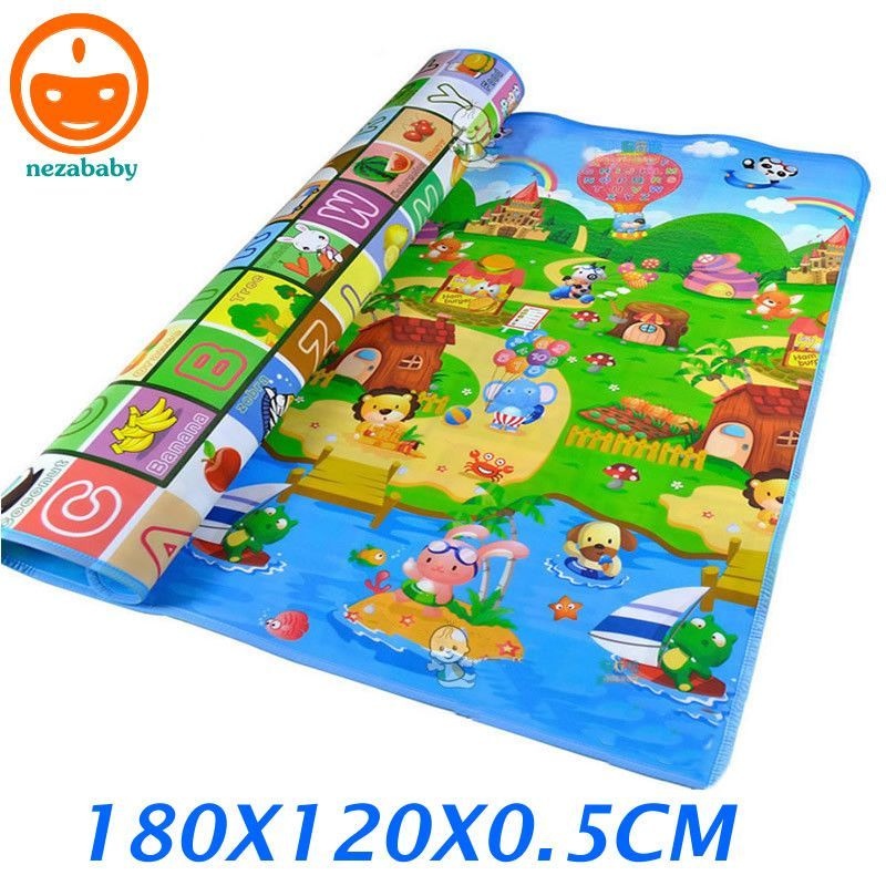 180cm Infant Play Mat Children Rugs Kids Carpet Double Side Hy Farm Baby