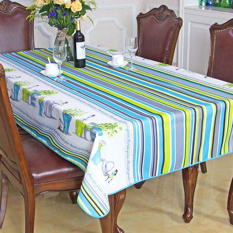 New Spring Summer Waterproof Pastoral Striped Table Cloth High Quality  Tablecloth Table Cover Manteles Para Mesa