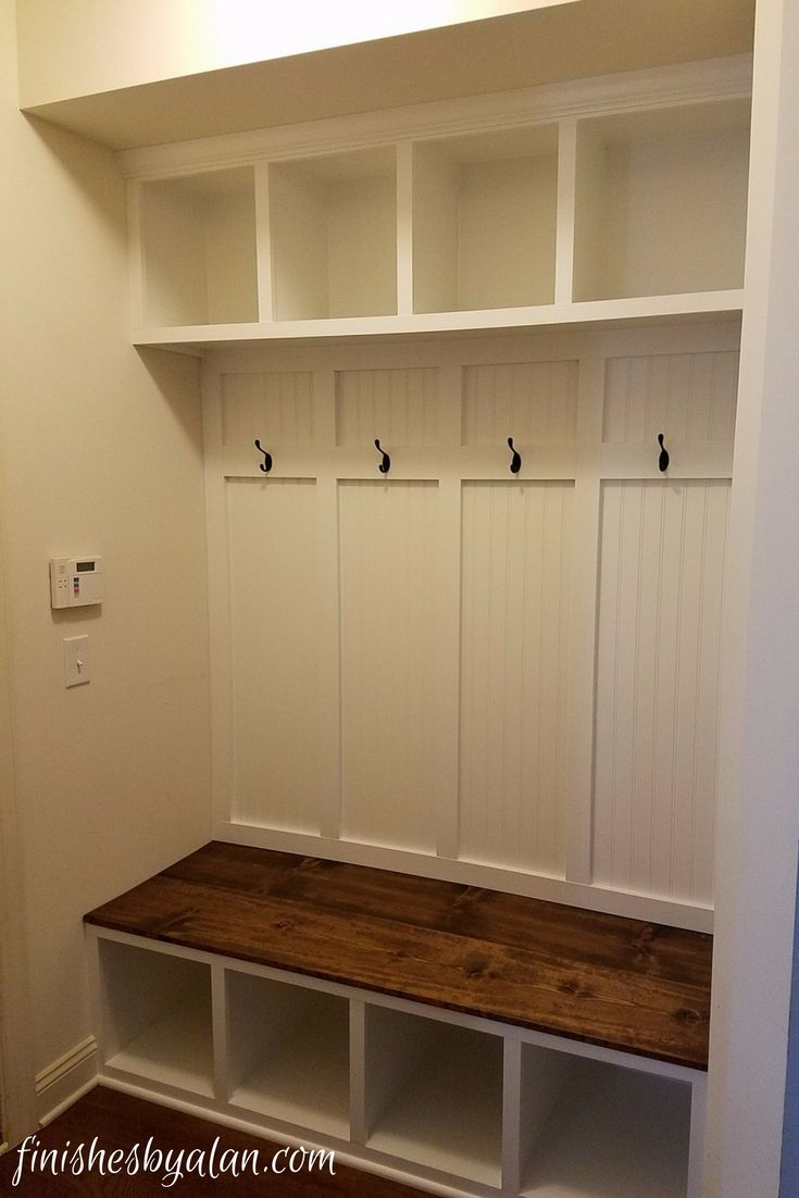 Mudroom Bench With Beadboard And Board Batten Back