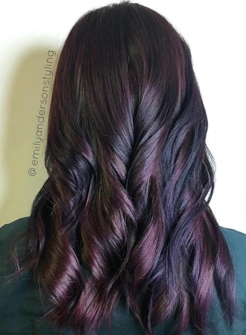 Black And Mahogany Hair