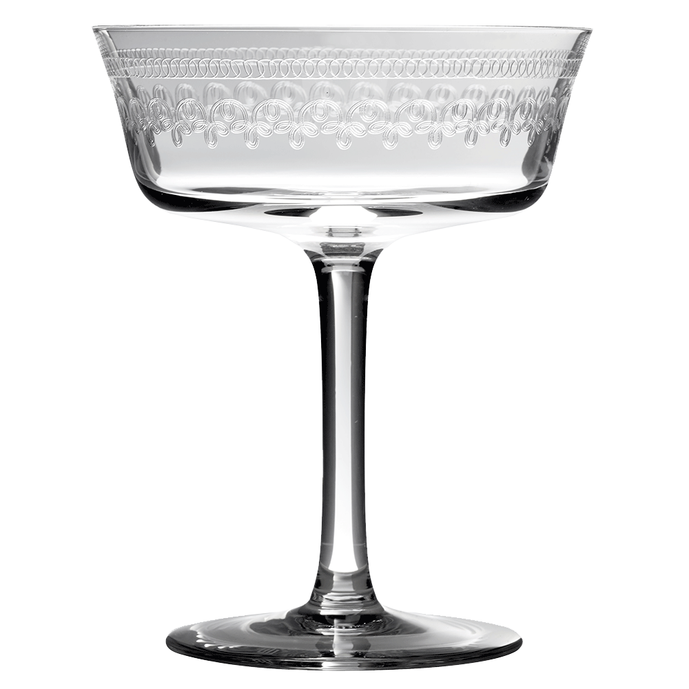 Retro Fizzio 1910 Coupe Glass Champagne Saucer Urban Bar Us Engraved Cocktail Glasses Coupe Glass Cocktail Glass