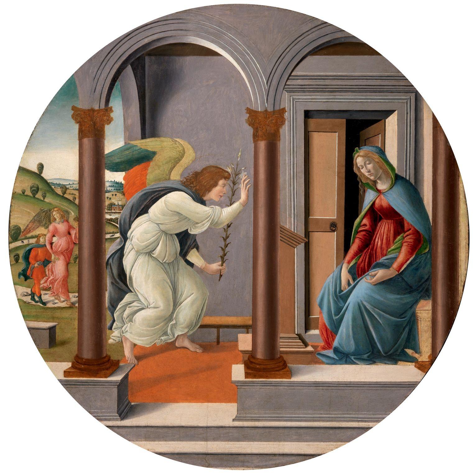 Resultado de imagem para ANUNCIAÇÃO  de Botticelli Alessandro Filipepi (1445-1510)