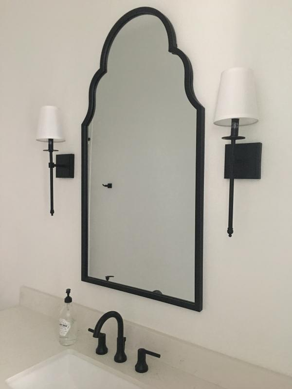 Maria Metal Black Arch Wall Mirror In 2020 Bathroom Mirror Frame Farmhouse Bathroom Decor Mirror Wall