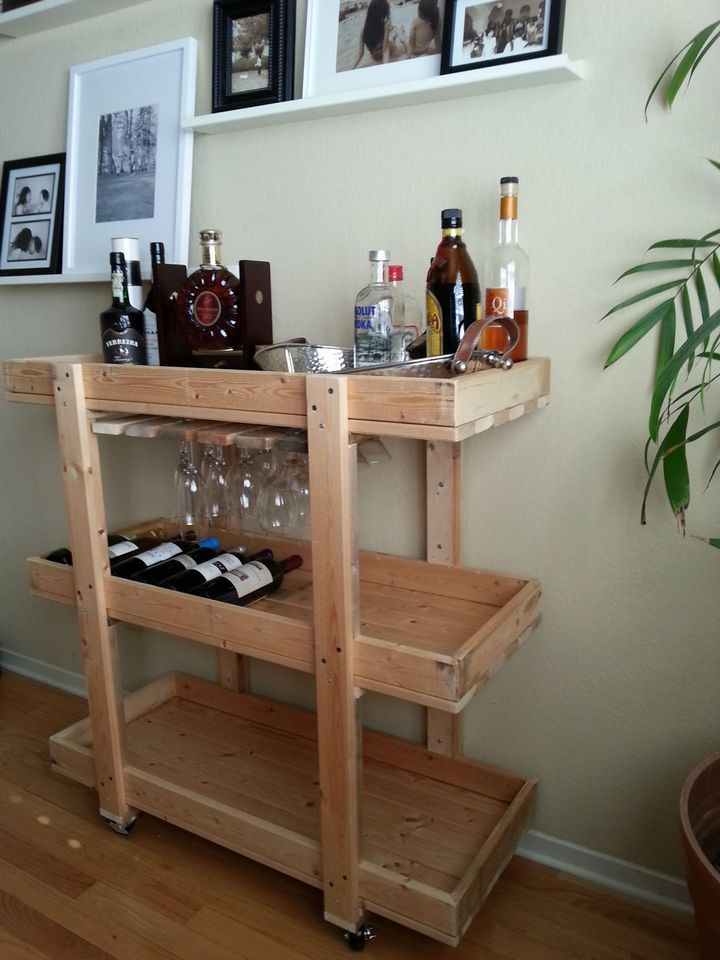 18 DIY Bars and Bar Carts That Are Perfect for the Home or Patio -   18 diy home bar ideas