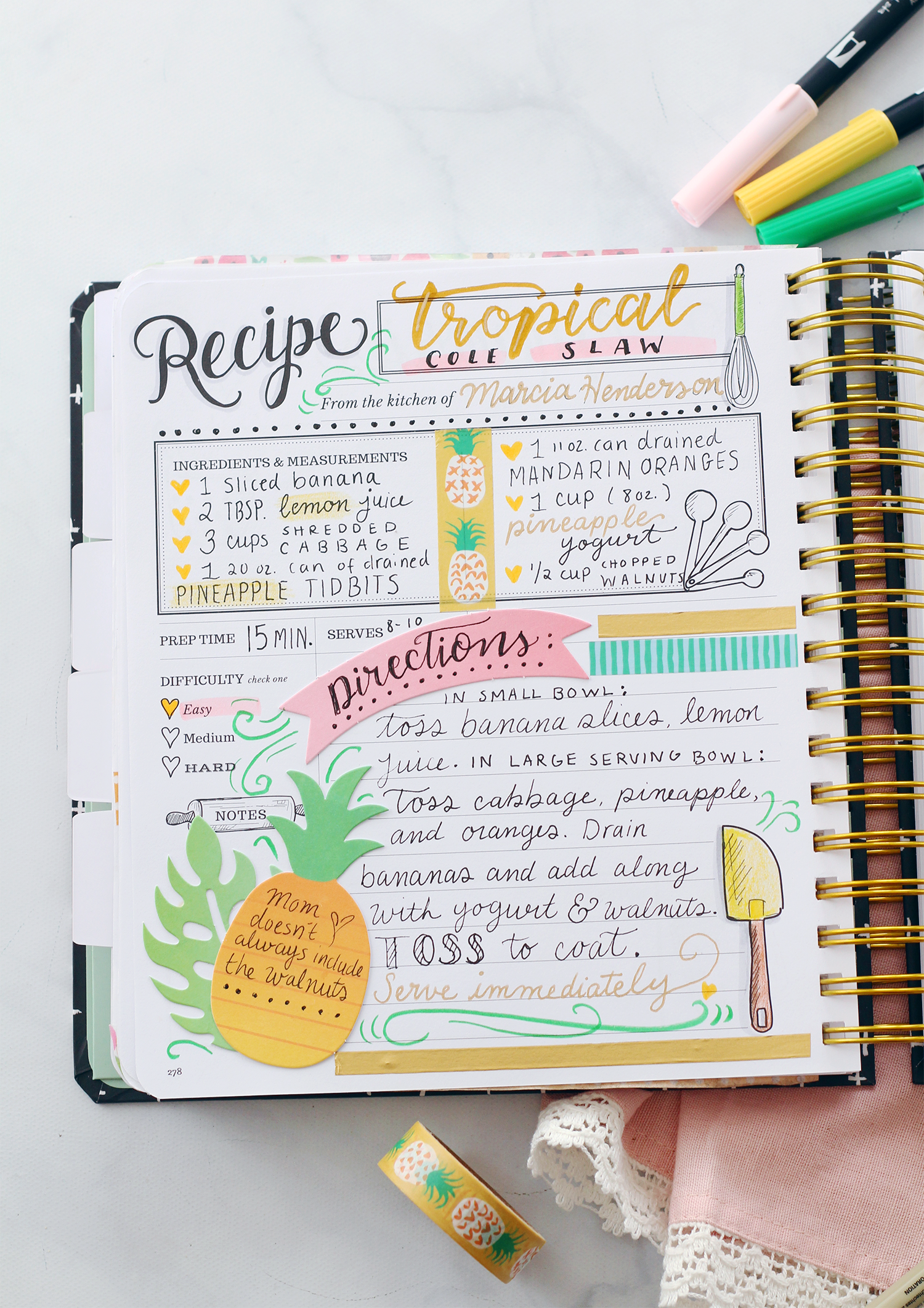 Crafting The Keepsake Kitchen Diary With Amy Tangerine Scrapbook Supplies Recipe Book Diy Recipe Book Design Scrapbook Recipe Book