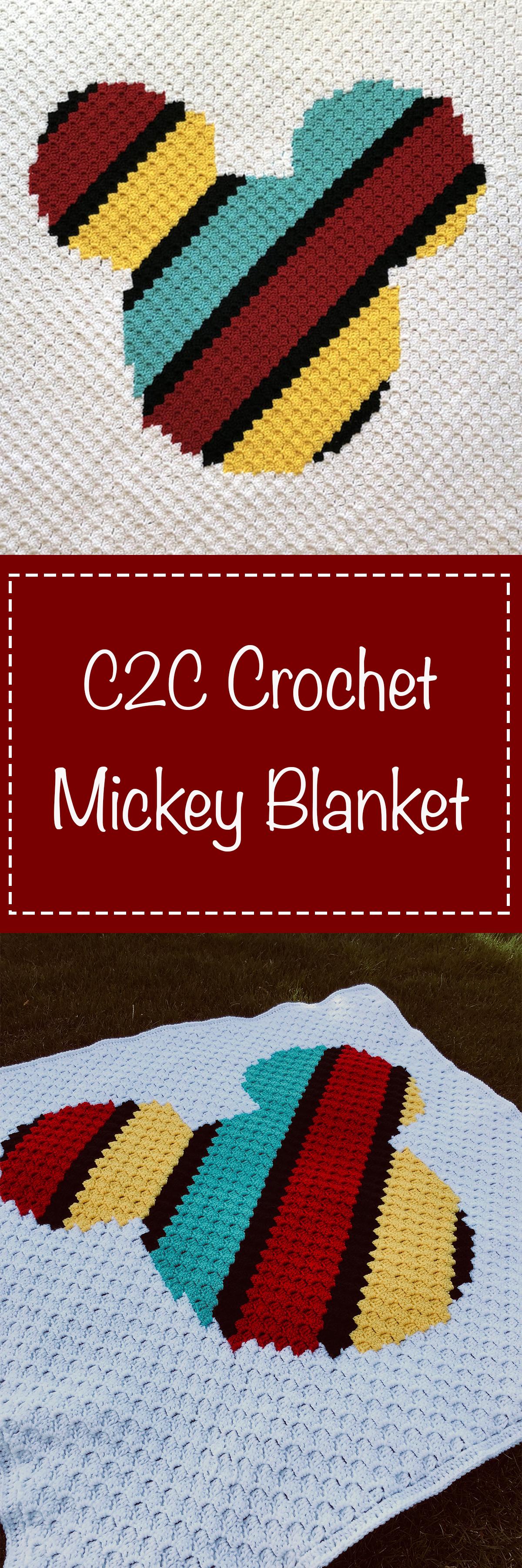 Corner to Corner Mickey Mouse Crochet Blanket | C2c | Pinterest ...