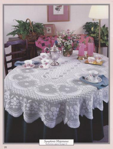 Oval Tablecloths American School Of Needlework Crochet Pattern