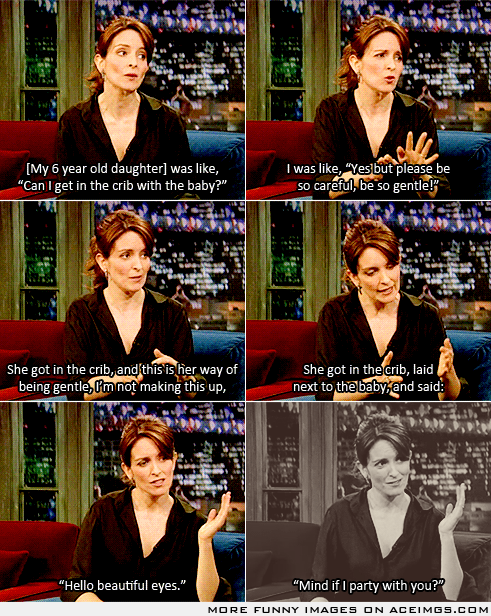 Tina Fey - re-read Bossypants over the weekend and cried from laughing more than twice