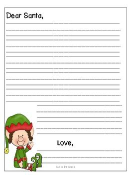 Letter to Santa Template FREE } abc s Pinterest