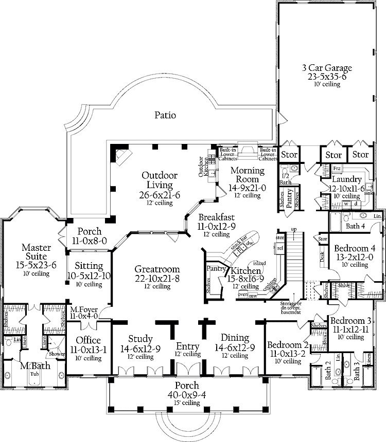 House Floor Plan. One Level, Great Lay Out