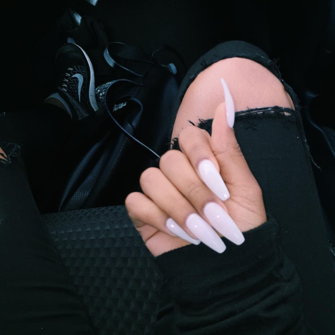 My Nails Are Milky Essie Marshmallow Nails Perfect Nails Long Acrylic Nails