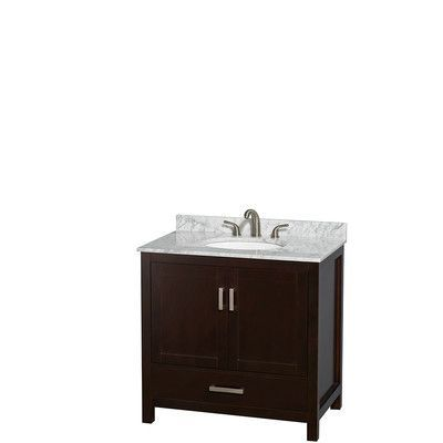 "Wyndham Collection Sheffield 36"" Single Bathroom Vanity Set"