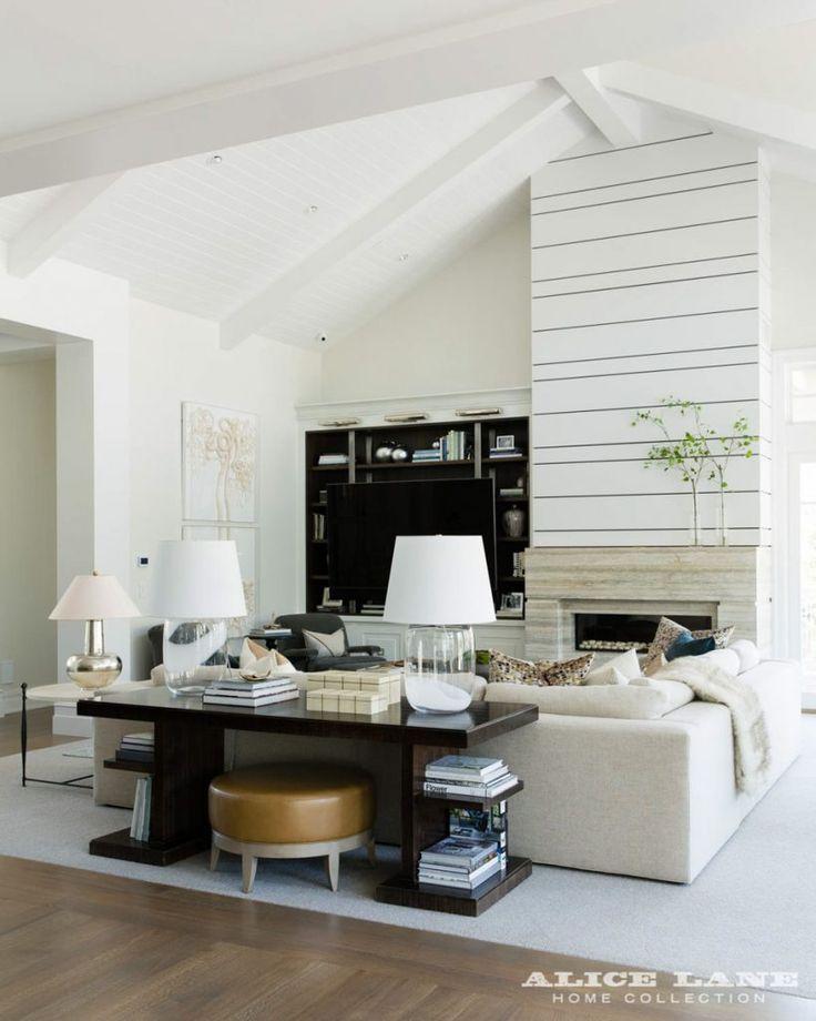 Coastal contemporary alice lane home interior design also gorgeous fireplace surround rh pinterest