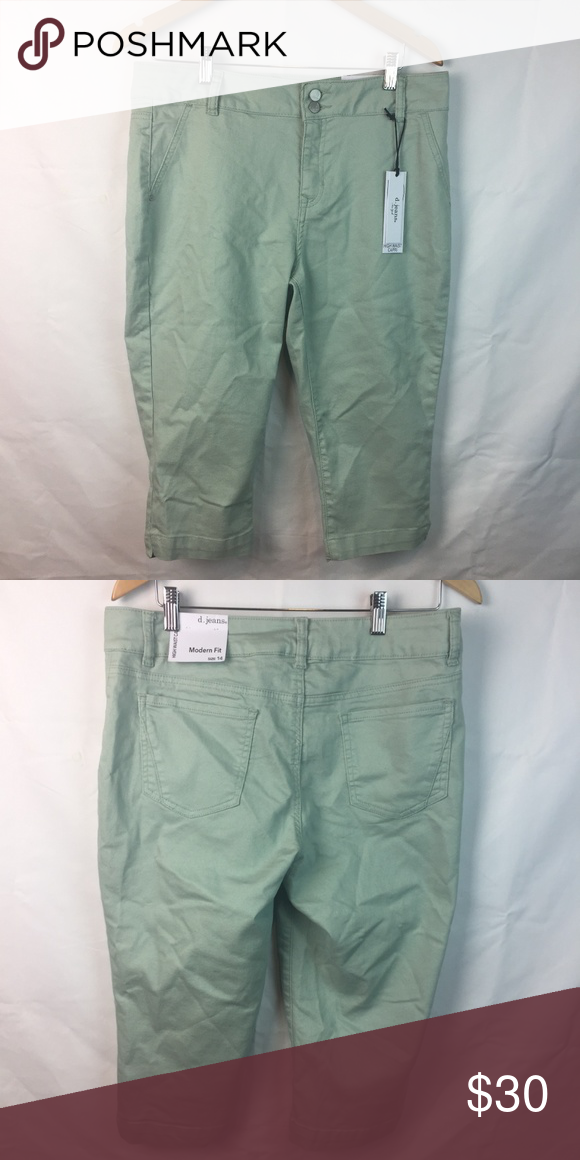 authorized site great deals arrives D. Jeans Modern Fit Sea Green Hight Waist Capri 14 New. Size ...