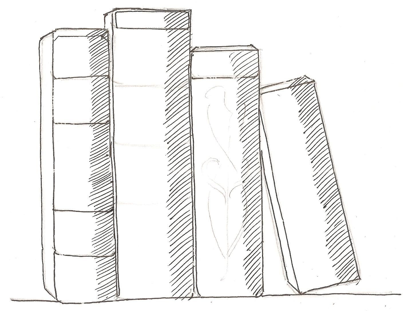 How To Draw Books In Shelf Which Can Be Read Book Drawing