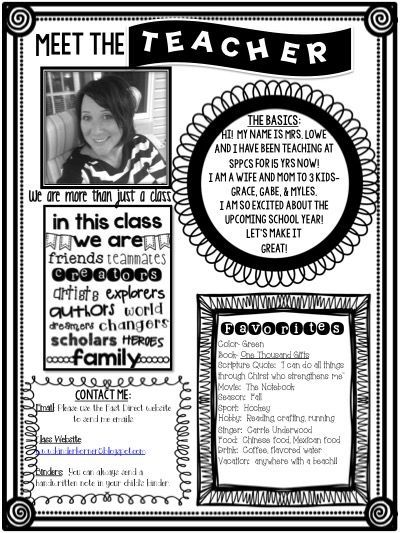 Meet the Teacher Editable Template for FREE!    www - open house templates