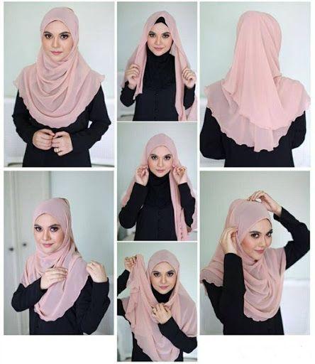 Kreasi Jilbab Segi Empat Desain Simple Elegan Modis Dan Modern Terbaru 2015 2016 Hijab Style Tutorial Hijab Tutorial Muslim Fashion Hijab Outfits