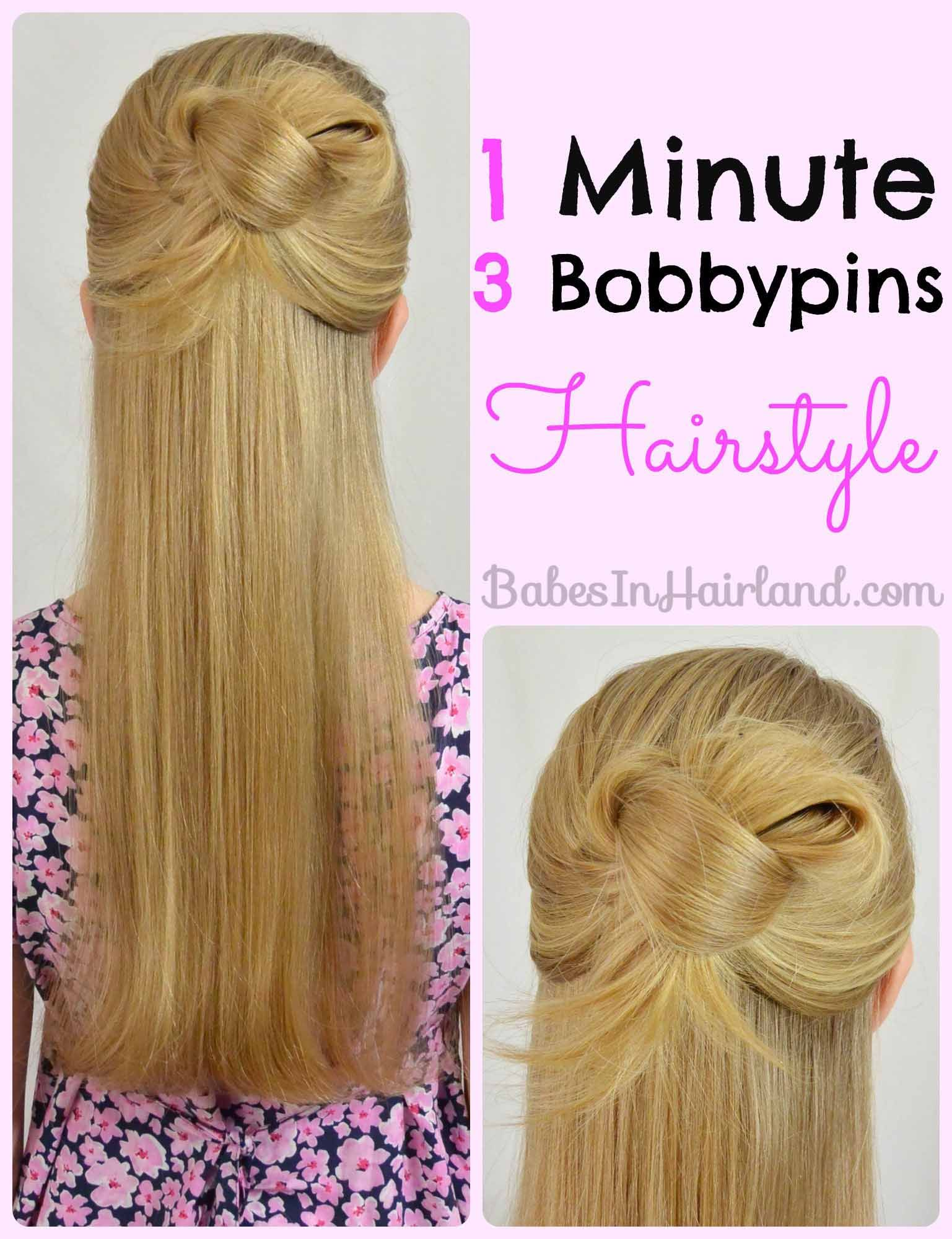 Easy 1 Minute Knotted Hairstyle