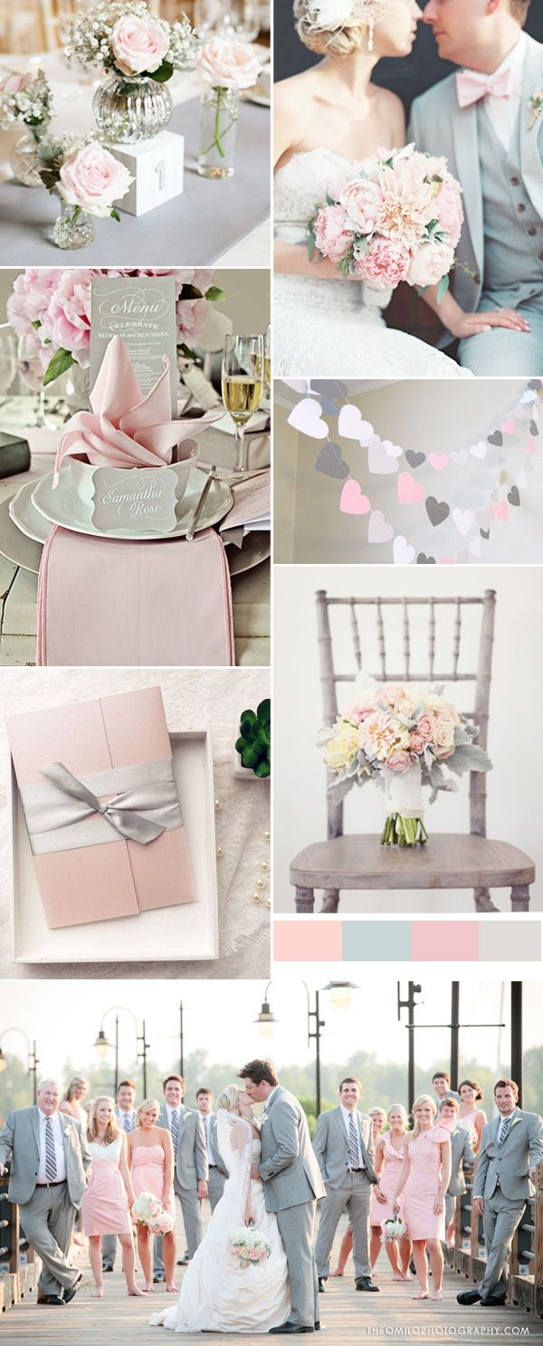 pink and grey wedding trends for spring weddings 2016 | matrimonio ...
