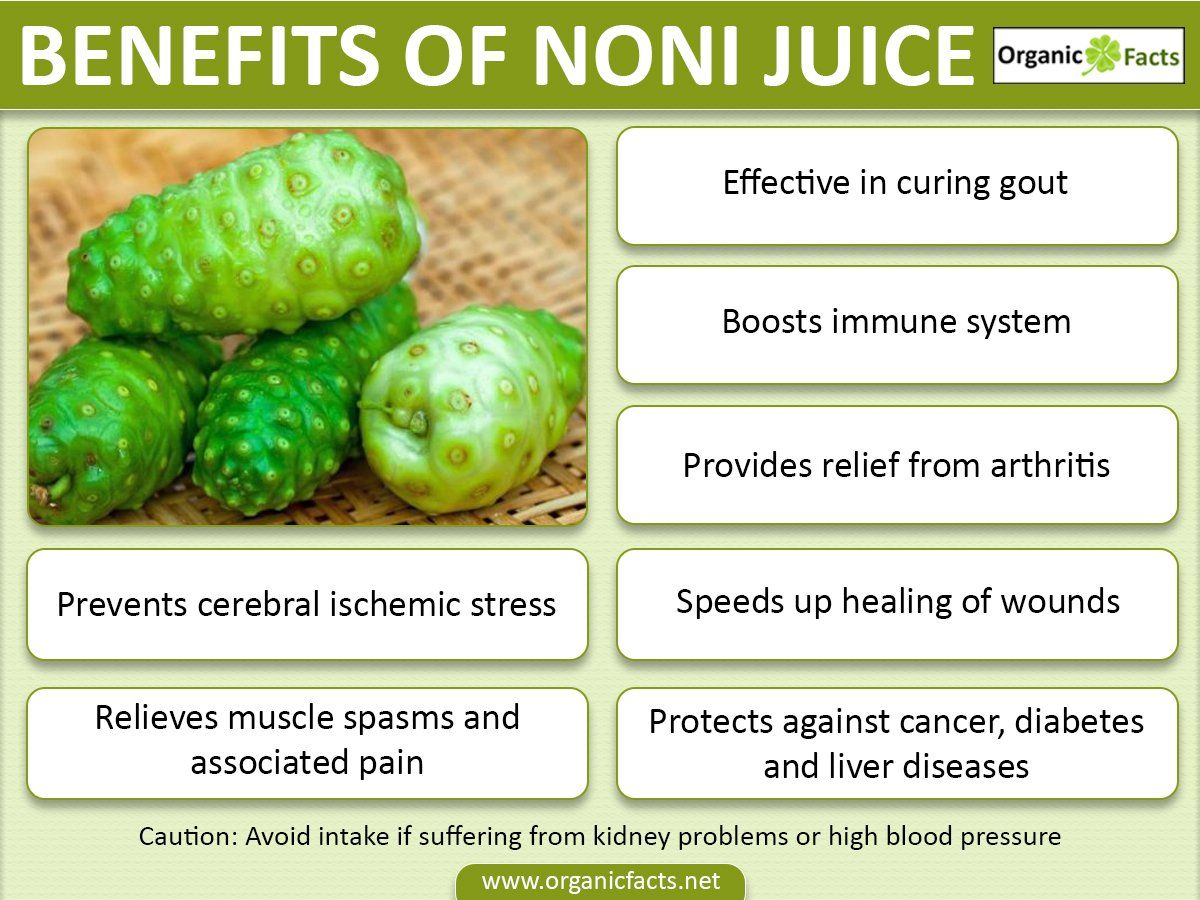 Health Benefits Of Noni Juice Include Prevention Of Cancer