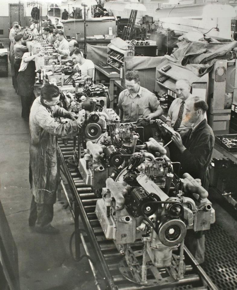 Tucker engine Line | Tucker | Tucker automobile, Vintage ...
