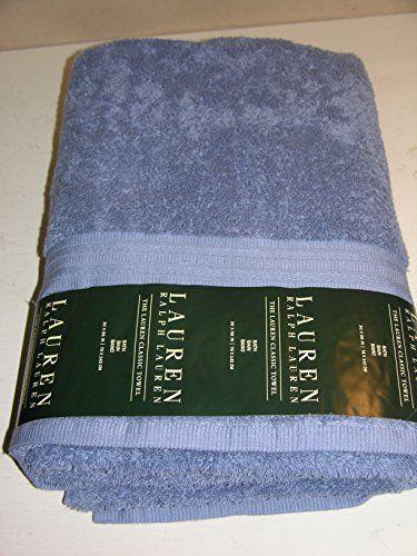 Lauren Ralph Lauren Classic Bath Towel Heather Blue 30 X 56