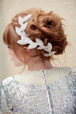 Super cute #weddinghairdo #headpiece