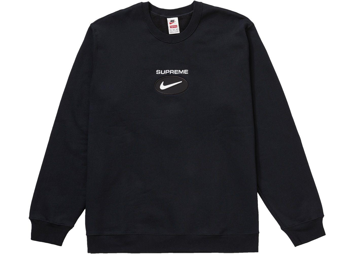 Supreme Nike Jewel Crewneck Black In 2021 Supreme Clothing Designer Clothes For Men Nike [ 1000 x 1400 Pixel ]