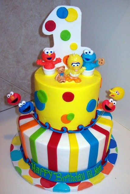Admirable Sesame Street First Birthday Cake Google Search With Images Personalised Birthday Cards Sponlily Jamesorg