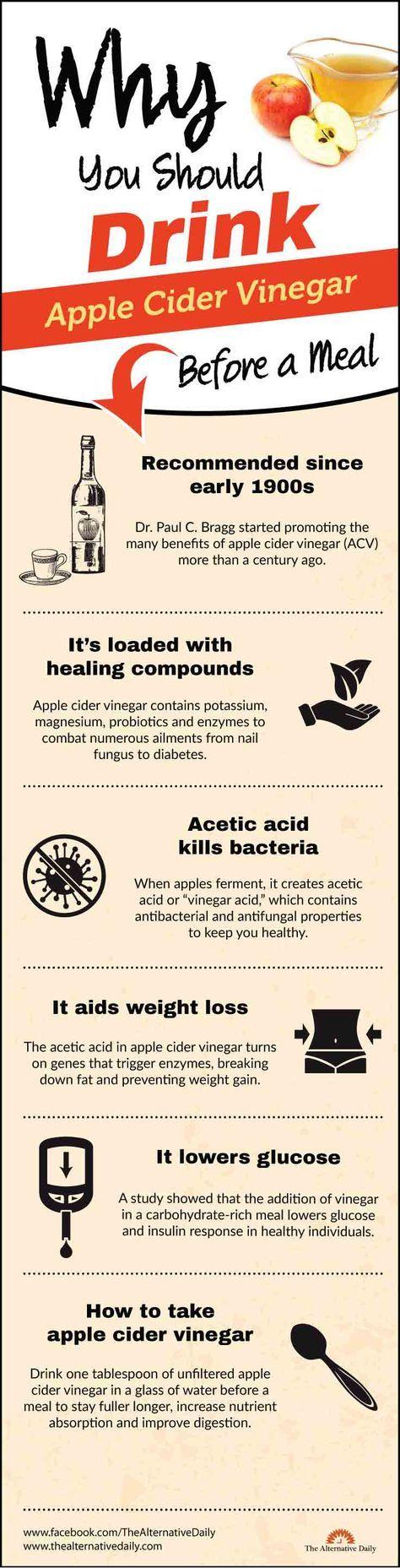 Why you should drink apple cider vinegar before a meal