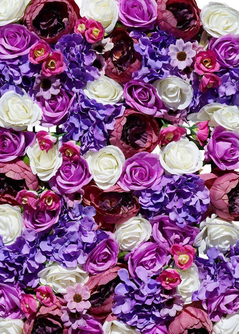 Gorgeous Purple Violet Lavender Flower Wall Flower Wall Rental Flower Wall Wedding Flower Wall