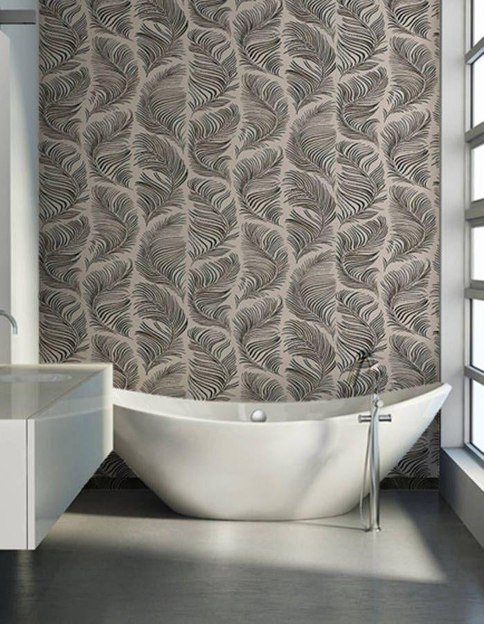 Un papier peint comme en mouvement pour apporter du pepu0027s à la salle - moisissure carrelage salle de bain