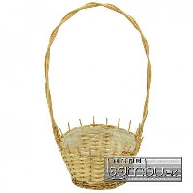Kôš prútený - 45 cm - Prútené koše - Bambu.sk