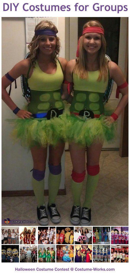 Homemade Costumes for Groups. Diy Ninja Turtle ...  sc 1 st  Pinterest & Homemade Costumes for Groups | Homemade costumes Diy costumes and ...