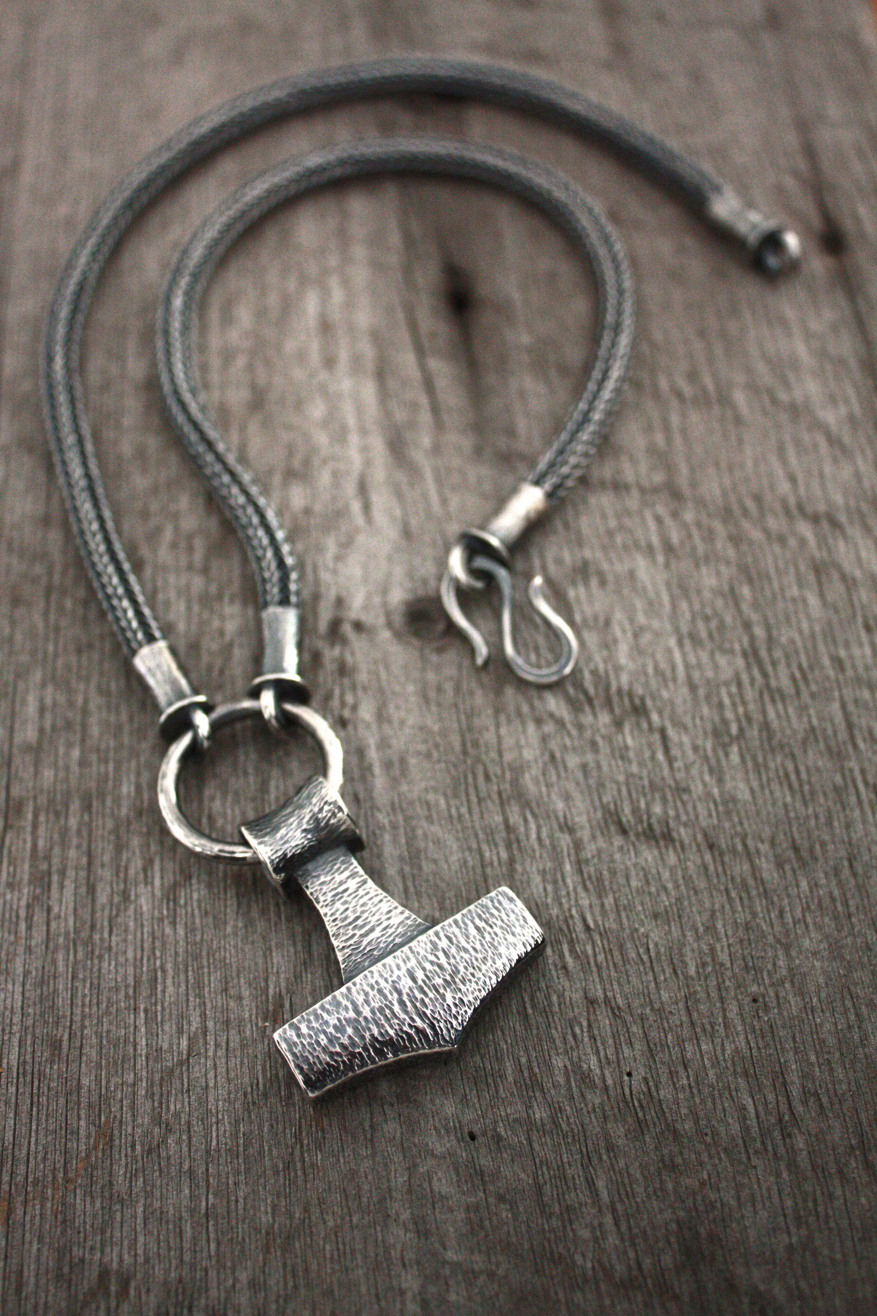 Thor S Hammer Necklace Sand Cast Textured Fabricate And